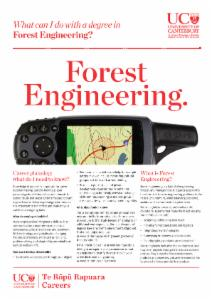 Careers Forest Engineering
