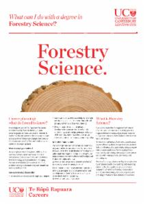 Careers Forestry Science