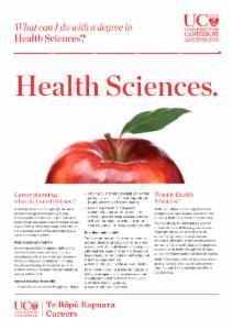 Careers Health Sciences