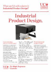 Careers Industrial Product Design