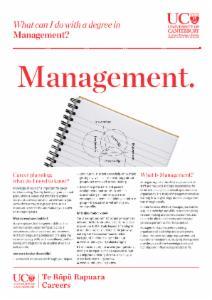 Management Careers information