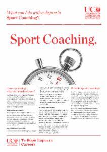 Sport Coaching Careers information