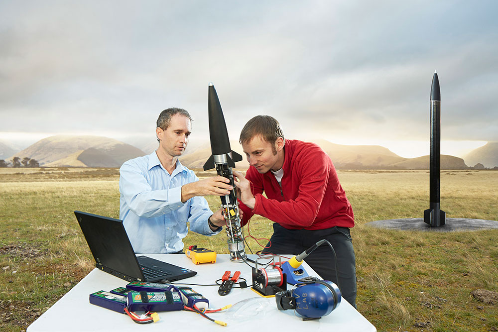 Engineering 2 field rocket laptop landscape