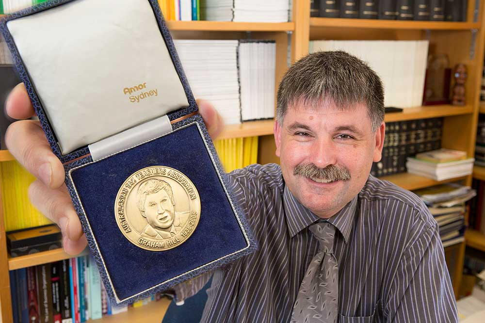 Professor Adrian Sawyer, Taxation and Accounting, winner of the Australasian Tax Teachers Association Hill Medal, in recognition of outstanding contributions to tax teaching and policy in Australasia.