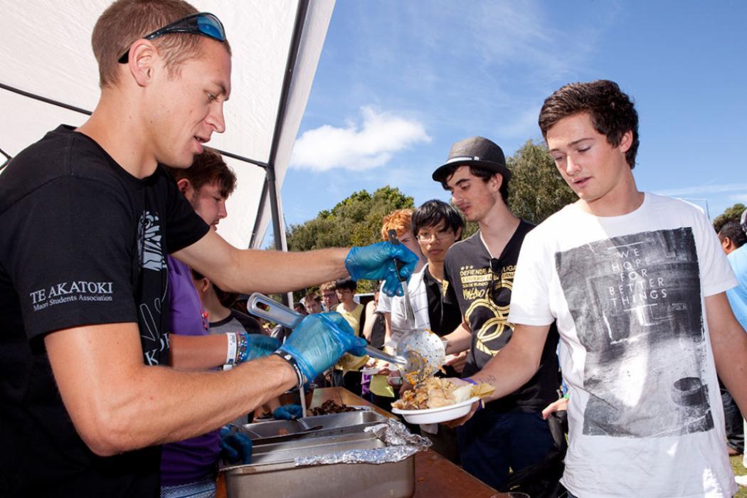 Maori students association buffet clubs day landscape