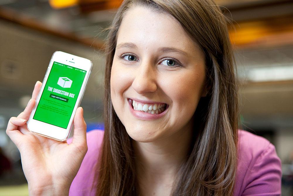 Hannah duder suggestion box app winner innovator 2014