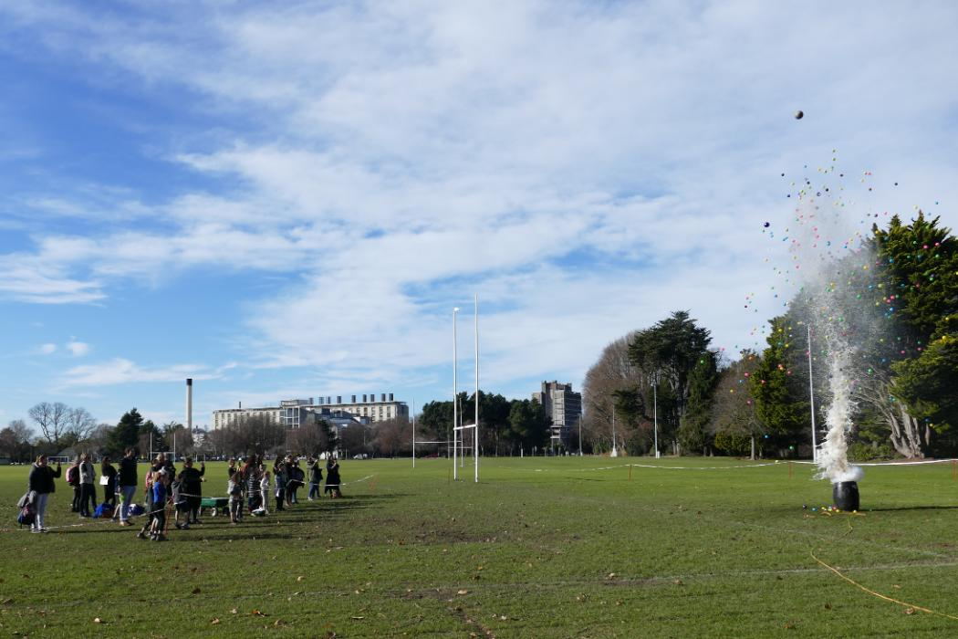 Children's University explosion ilam field