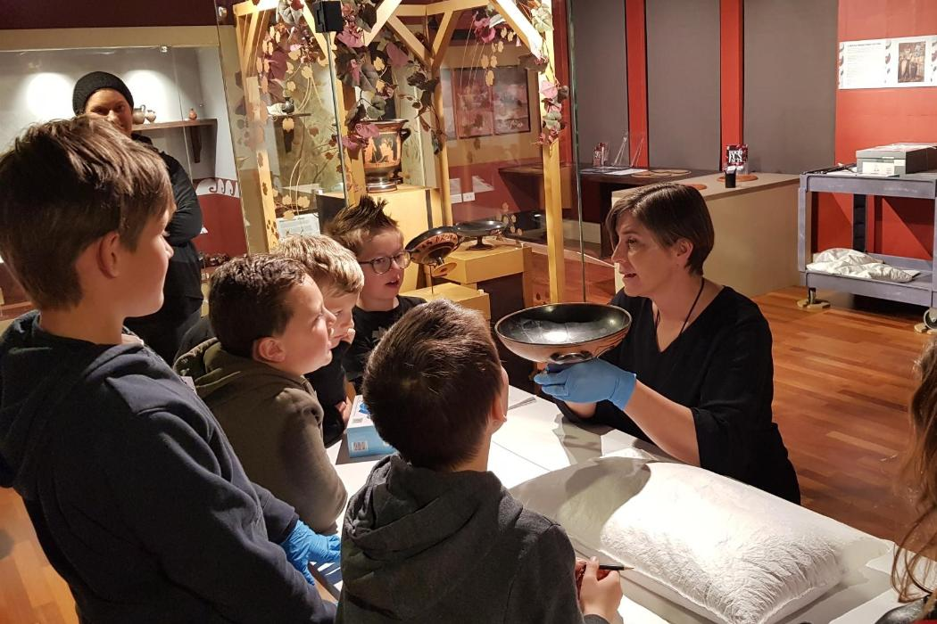 Children's University kids at Teece Museum