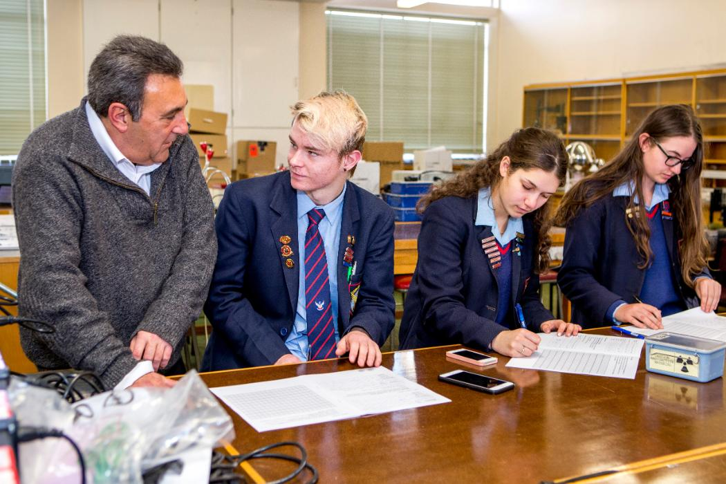 Ashburton college students in chemistry department