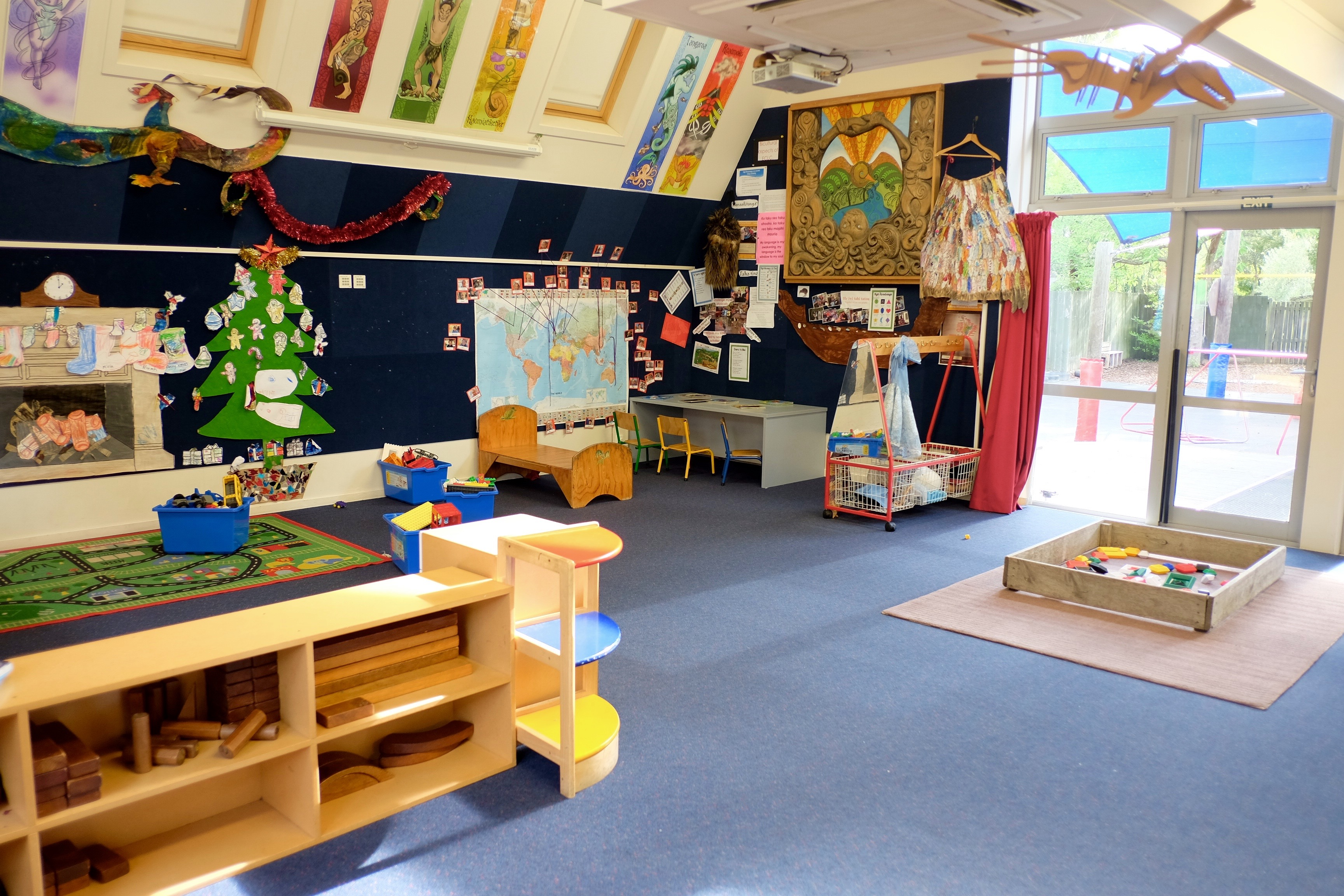 Childcare centre classroom decorations view
