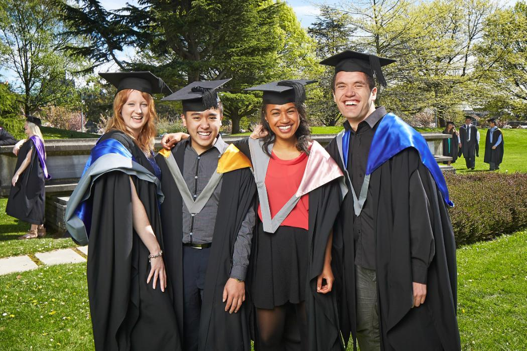 Graduaton group outdoors