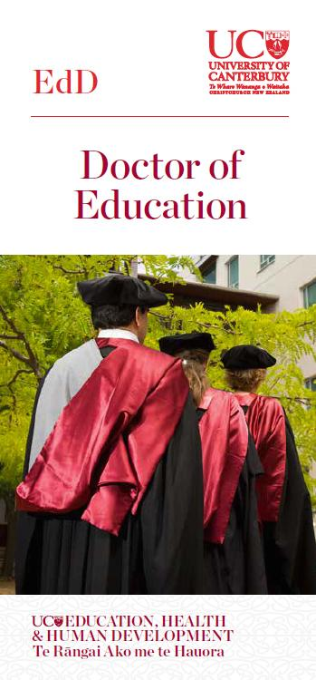 Doctor of Education DLE cover