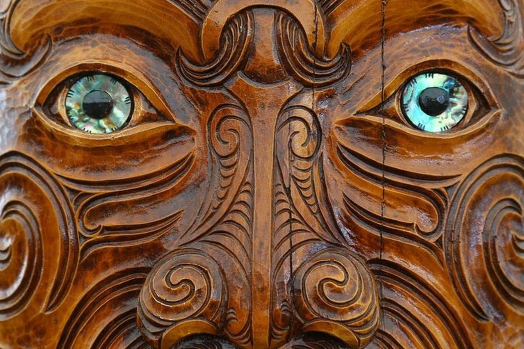 Maori carving face culture