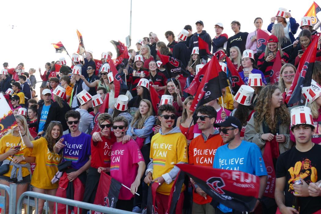 UC students at Crusaders game