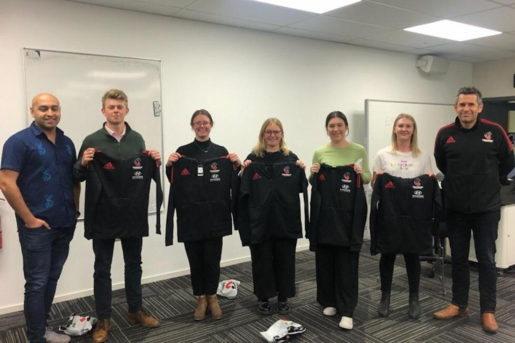 UC Marketing students pitch to Crusaders