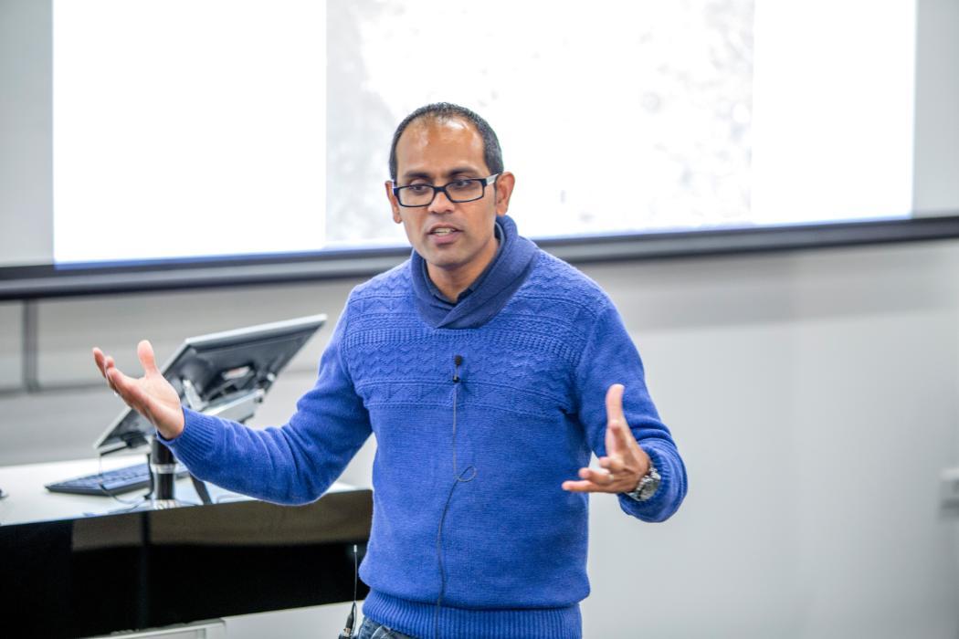 Lecturer speaking