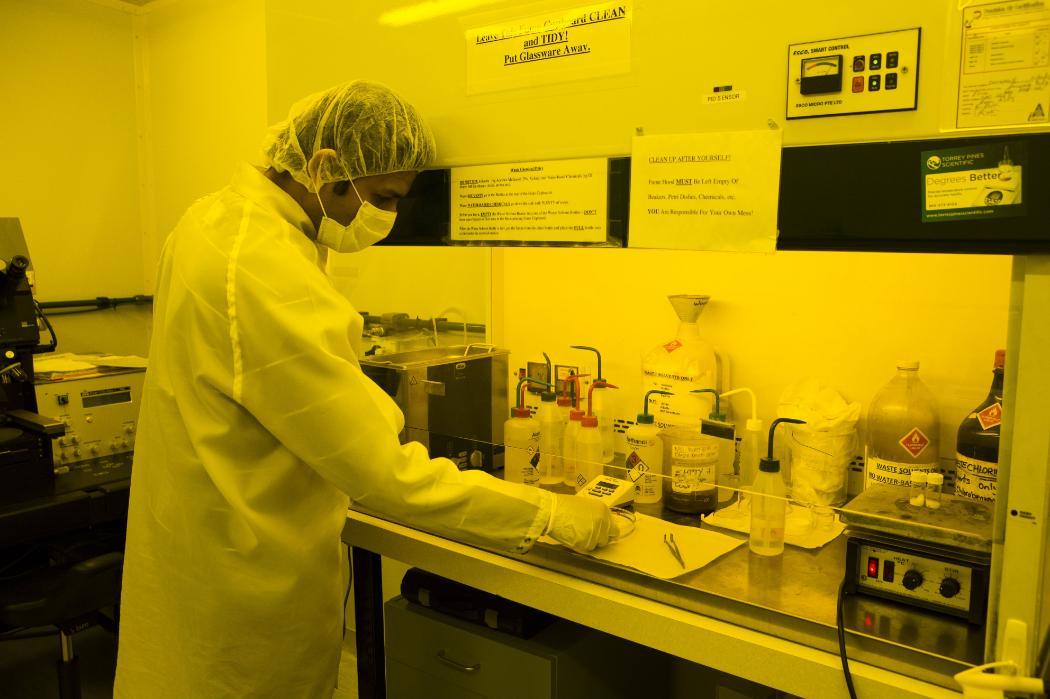 man working in Nanotech lab
