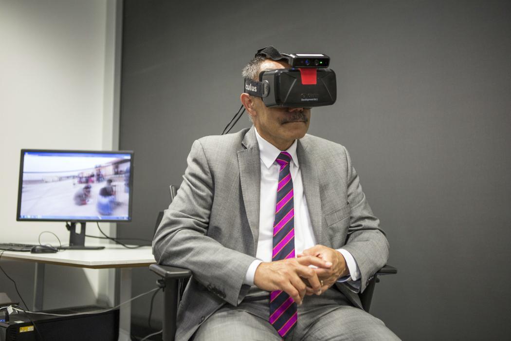 Man virtual reality headset Engineering
