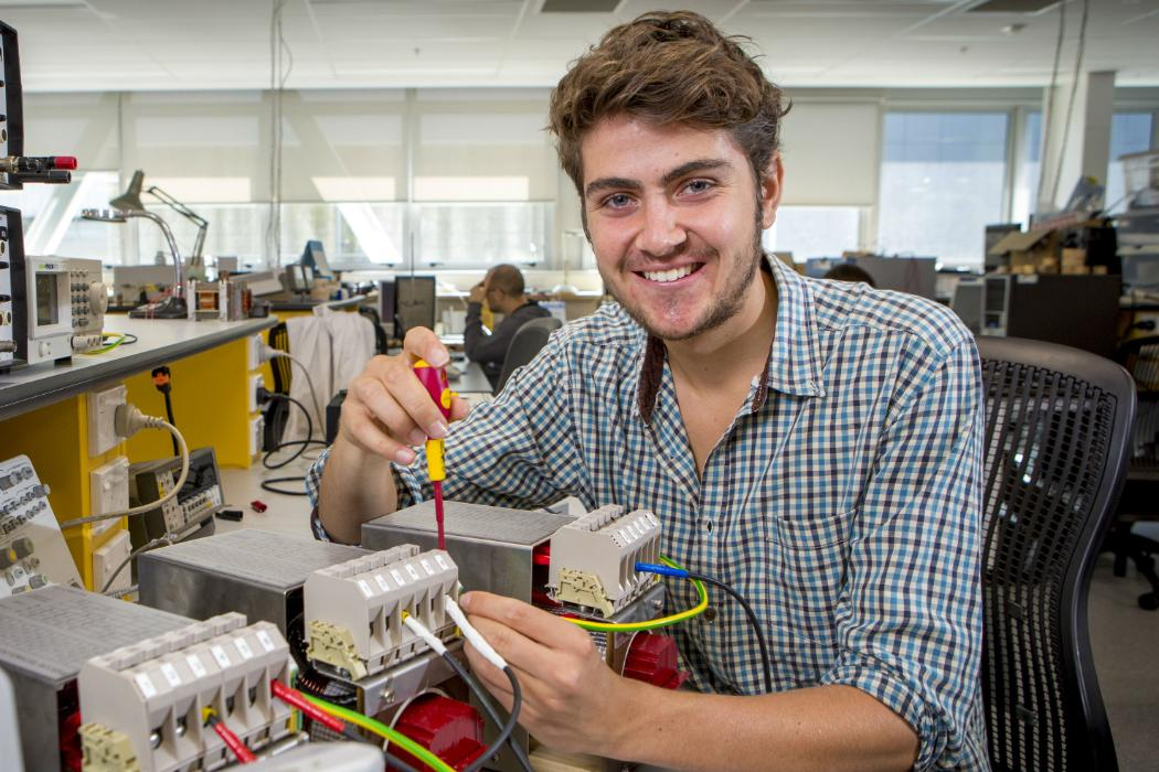 postgrad student in electrical engineering Euan McGill