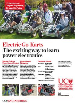 electric go-karts engineering poster