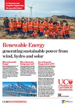 renewable energy engineering poster