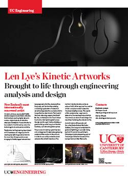 Len Lye's Kinetic Artworks engineering poster