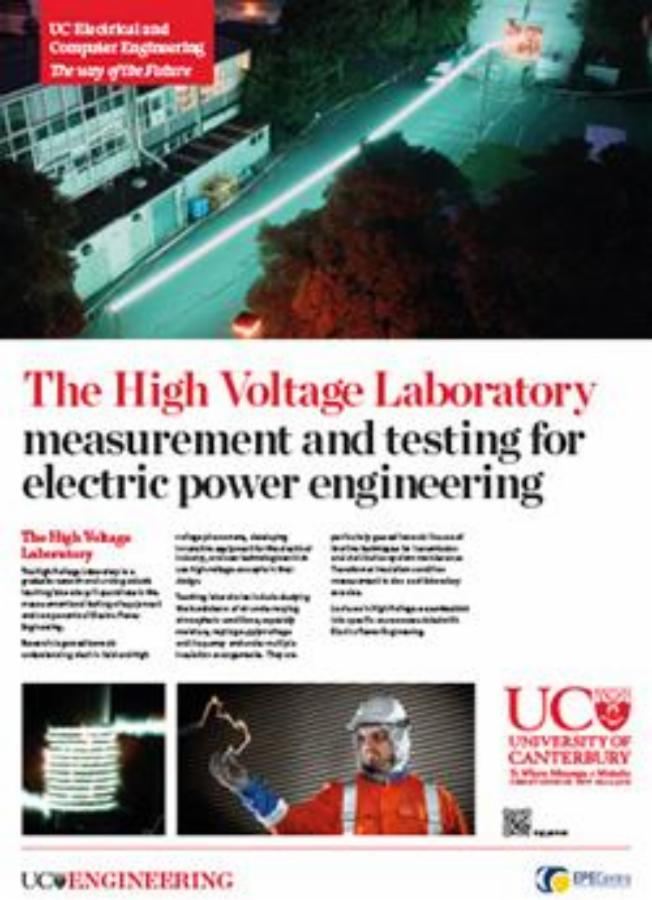 the high voltage laboratory engineering poster