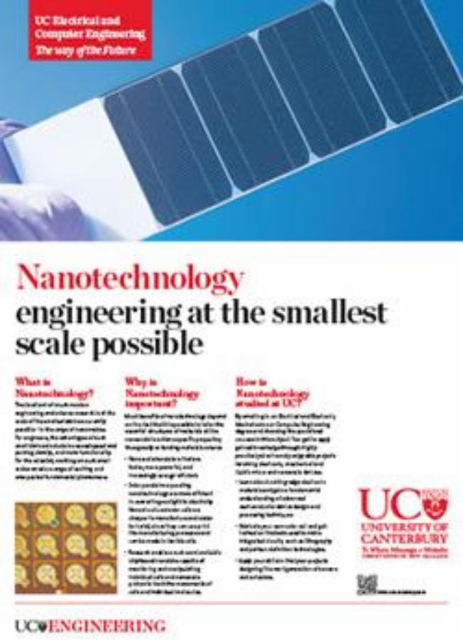 nanotechnology engineering poster