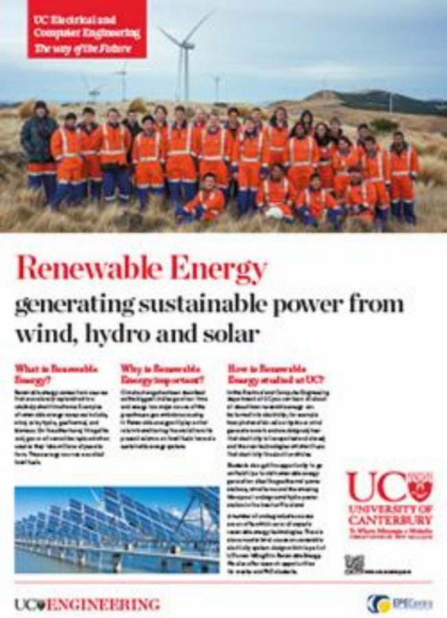 renewable energy engineering poster