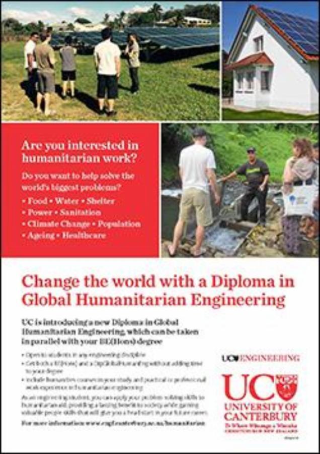 study engineering diploma in global humanitarian engineering