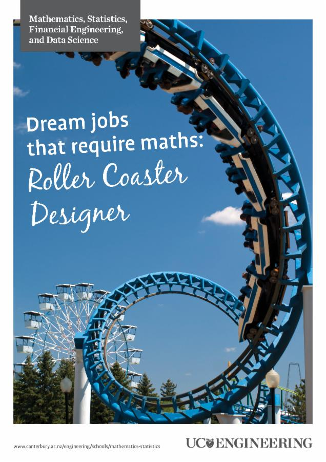 Maths and stats poster - roller coaster
