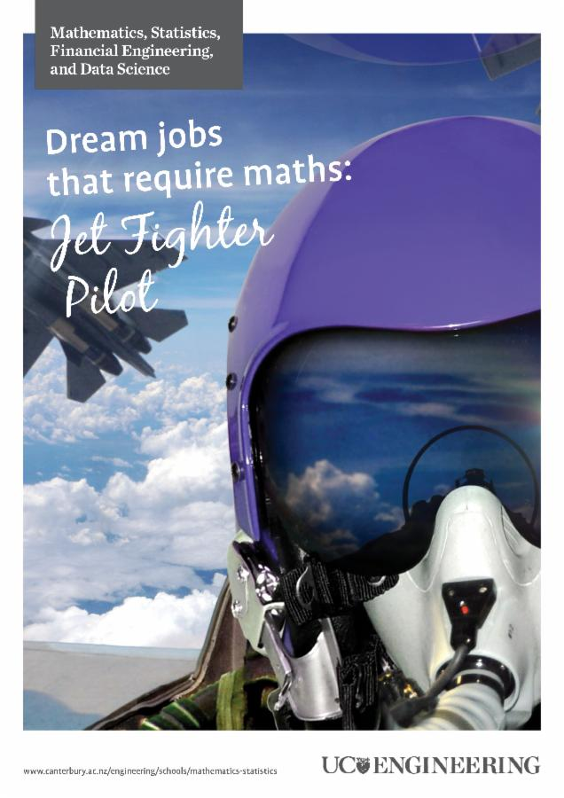 Maths and stats poster - jet fighter pilot