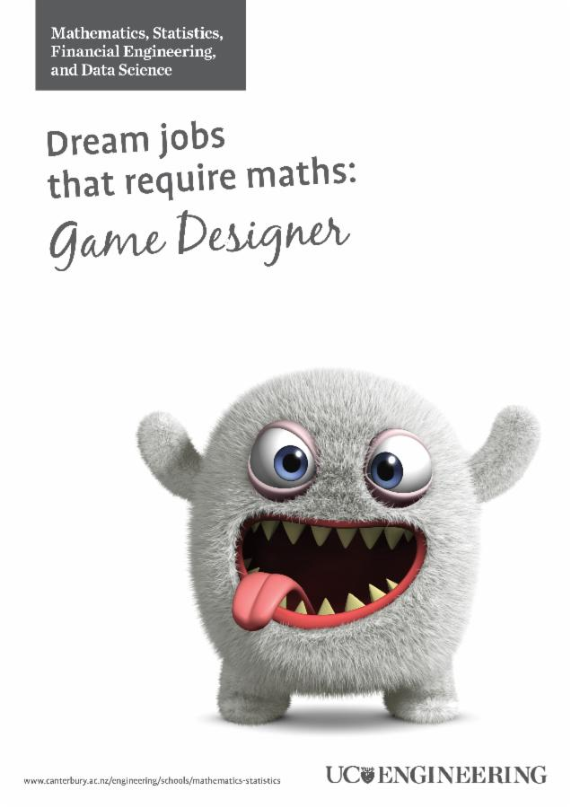 Maths and stats poster - Game designer