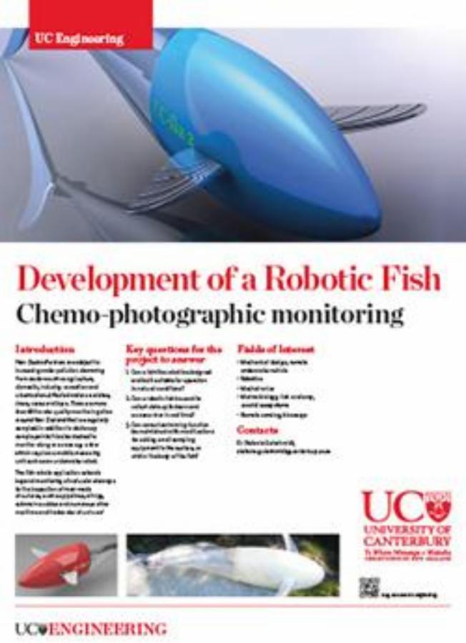 Development of a Robotic Fish engineering poster
