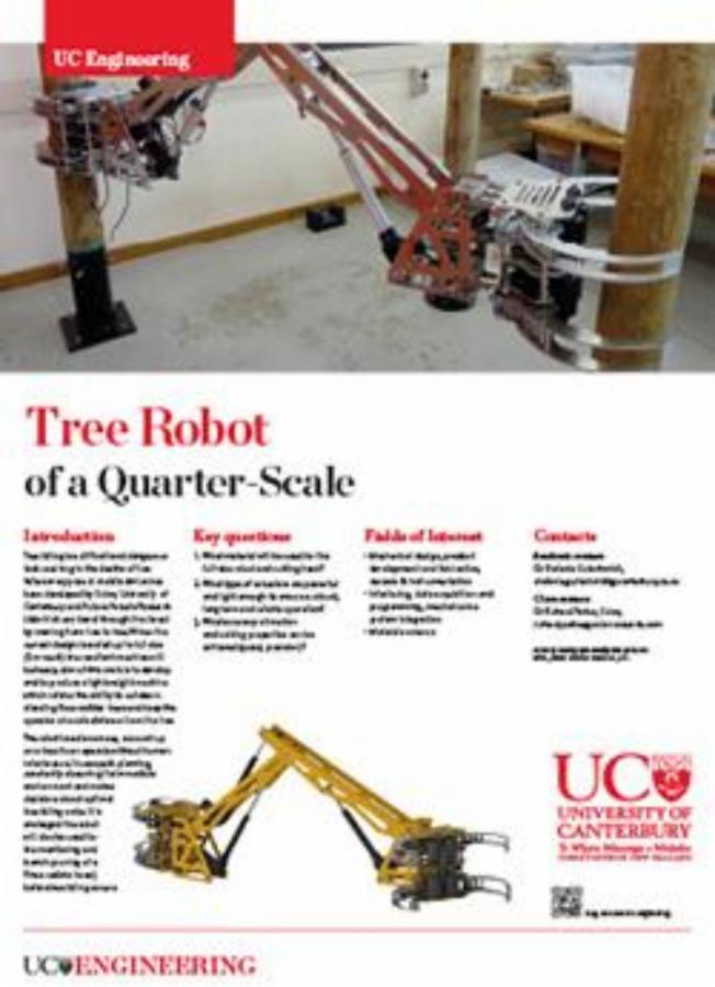 Tree Robot engineering poster
