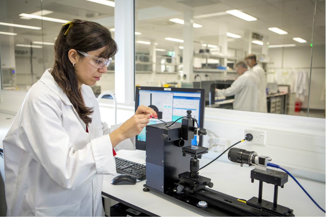 Professor in laboratory