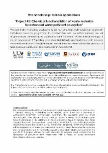 Chemical functionalistion of waste materials for enhanced water pollutant absorption