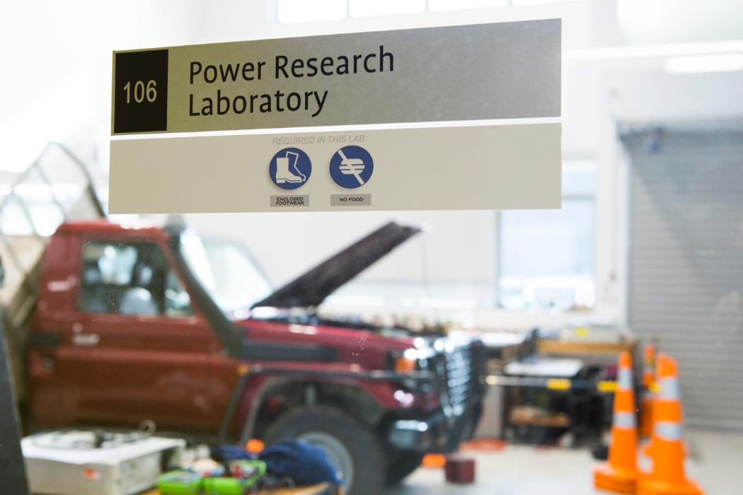 power lab with truck