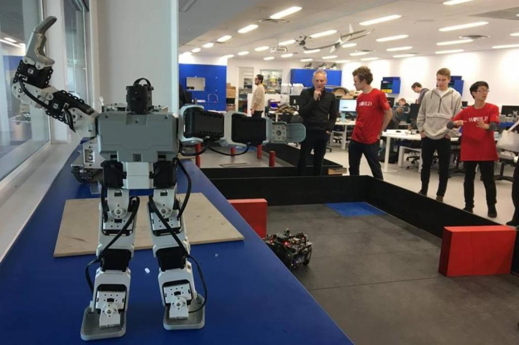 Open Day 2018 Mechatronics robot