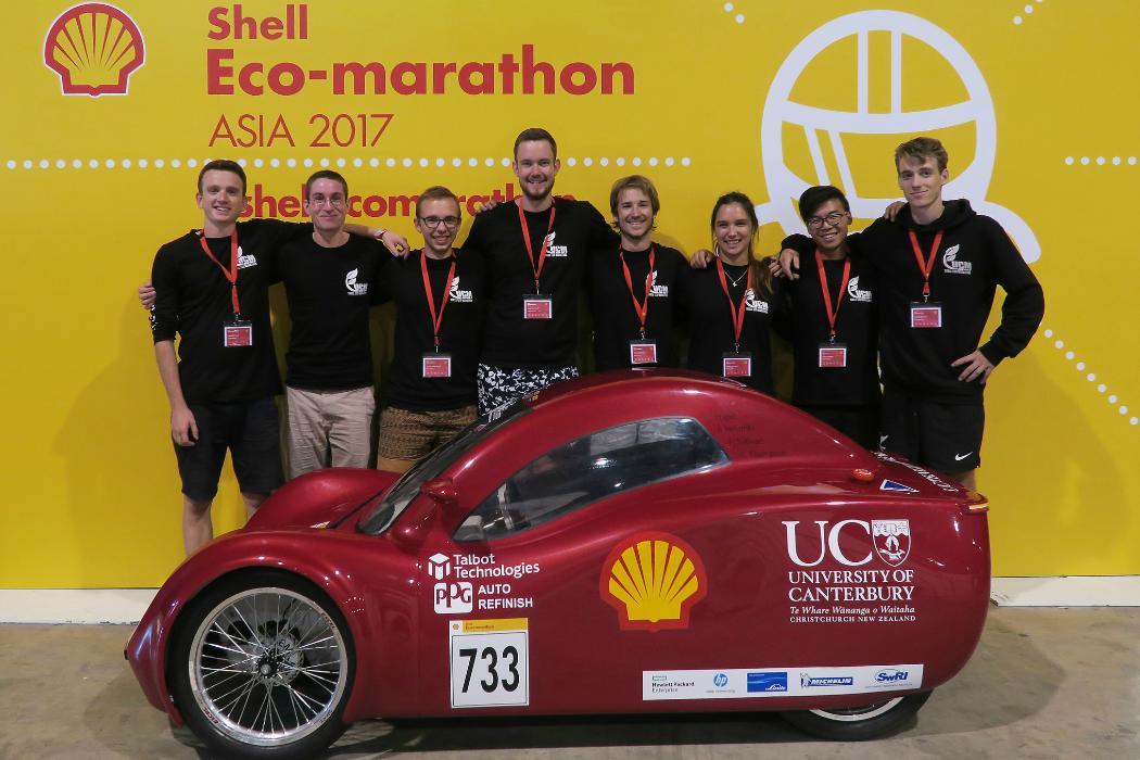 Enduro kiwis 2017 at Shell Eco-marathon Asia 2017