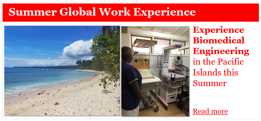 Pacific Islands Work experience biomedical