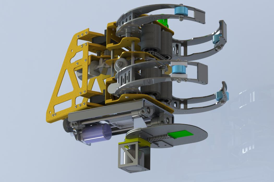 A tree robot, 3D model, Stefanie Gutschmidt