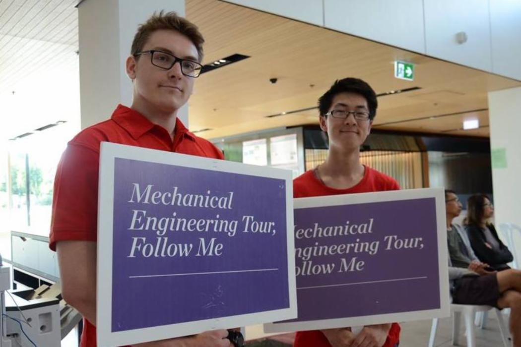 Mech Eng lab tour guides