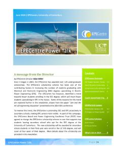 EPECentre Power Talk June 2014
