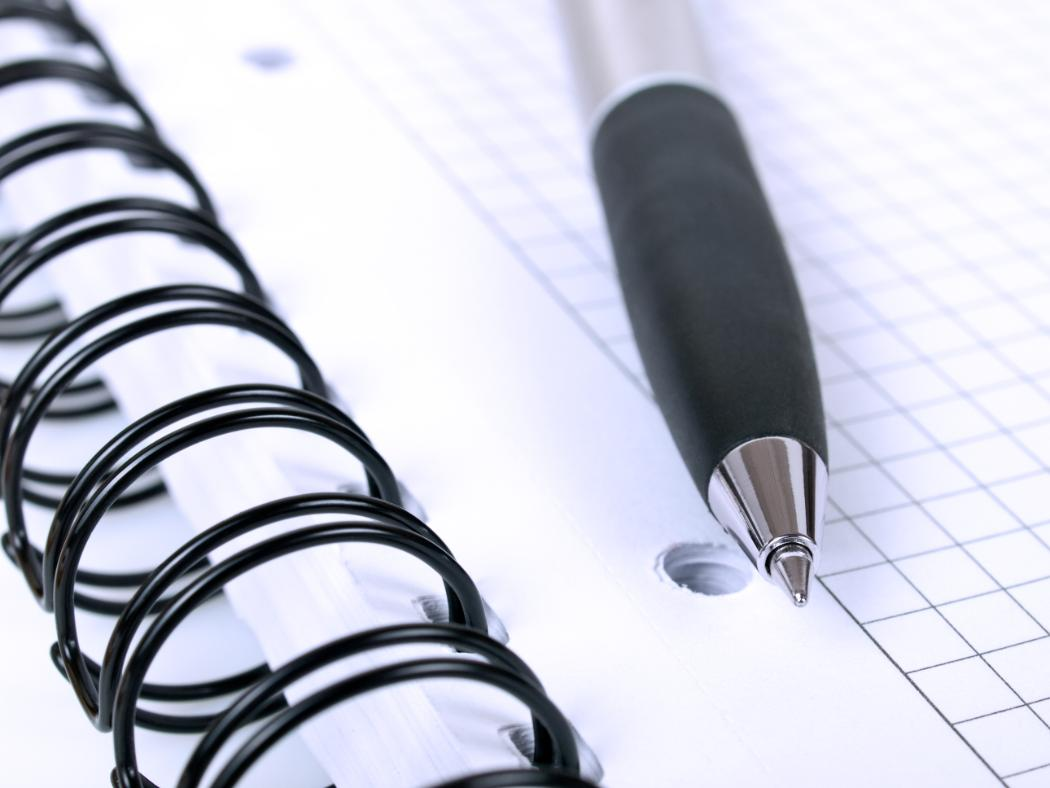 Jobs with DRS - Image of notebook and pen