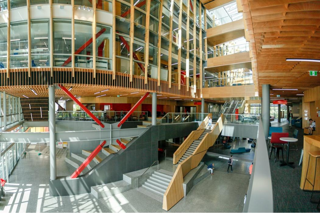 ernest rutherford atrium wide angle