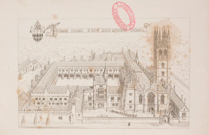 Page title canterbury college armson collins architectural an illustration of st mary magdalen college from the true principles of pointed or christian architecture 1841 malvernweather Gallery