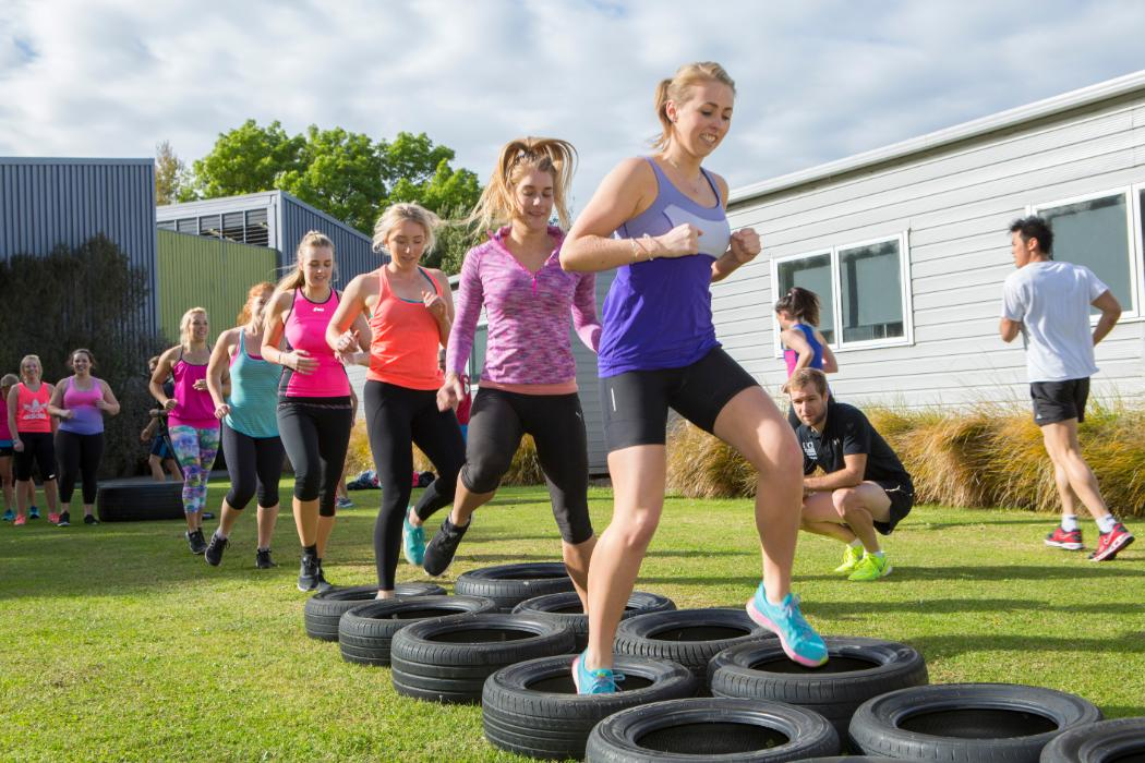 Group training at a boot camp