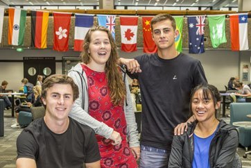 First-year-scholarships-flags-four-students