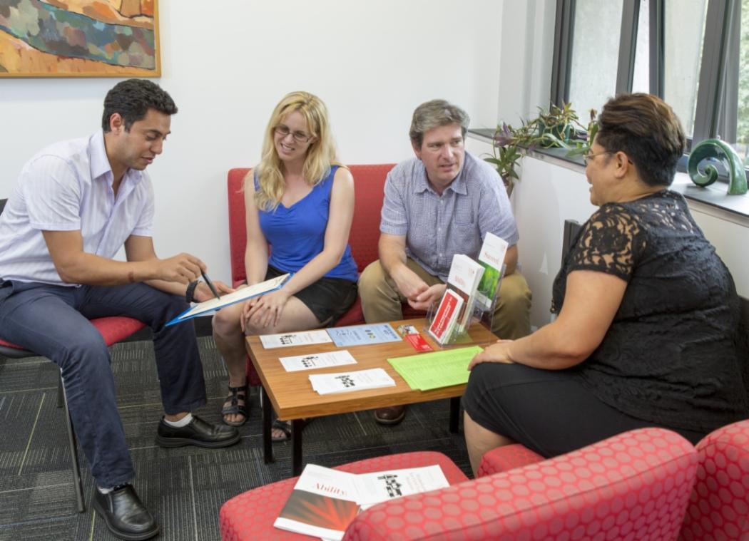 student development staff discussing